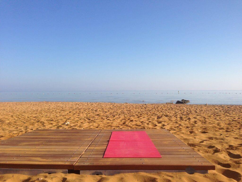 Ramla bay Gozo yoga mat