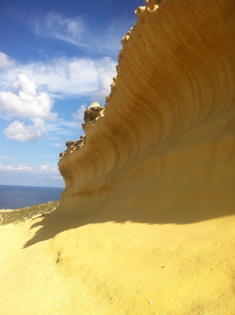 Salt pans rock formations